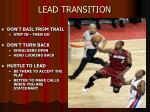 lead transition