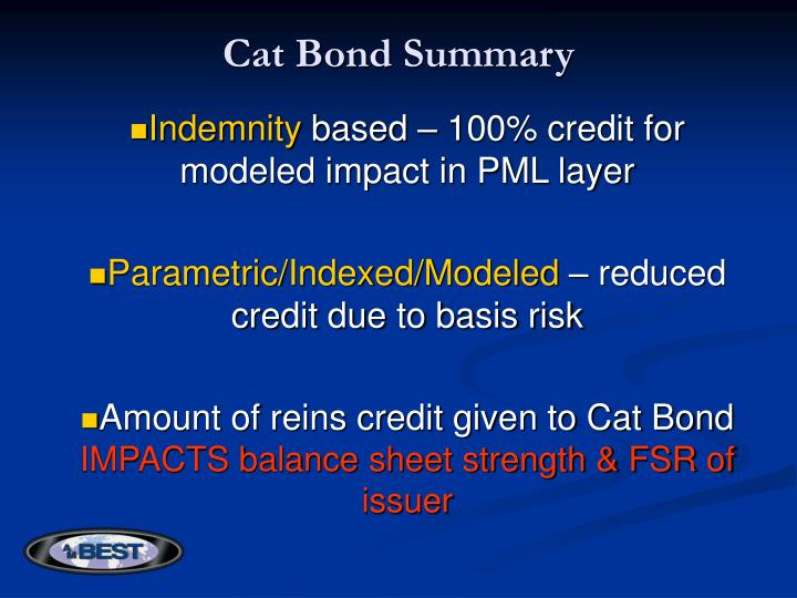 Cat Bond Summary