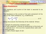 top contact design continued