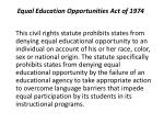 equal education opportunities act of 1974
