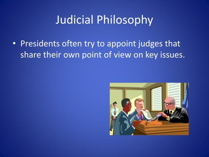 Judicial Philosophy