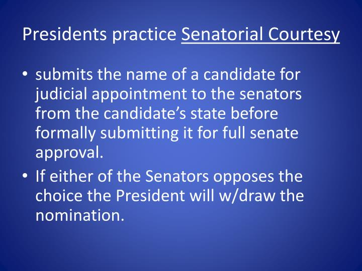 Presidents practice