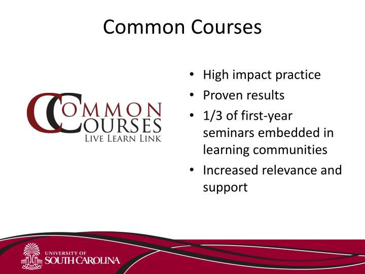 Common Courses