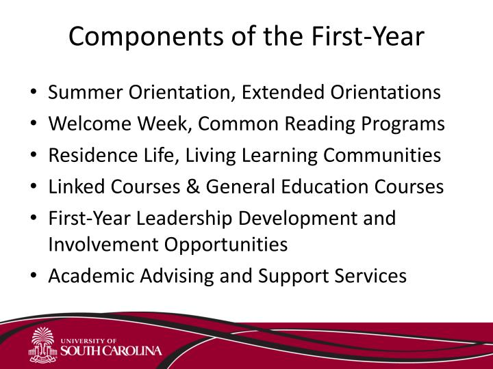 Components of the First-Year