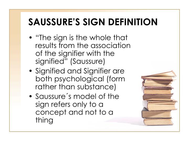saussure sign