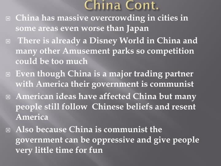 China Cont.