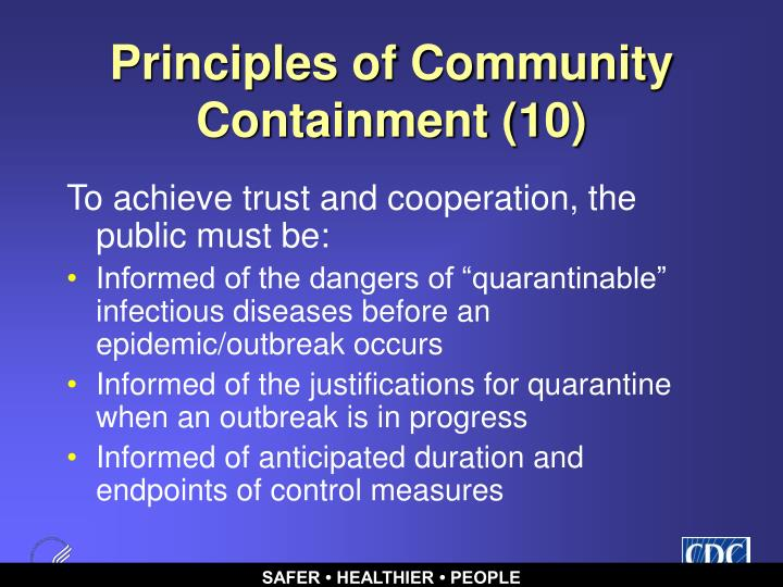 Principles of Community Containment (10)