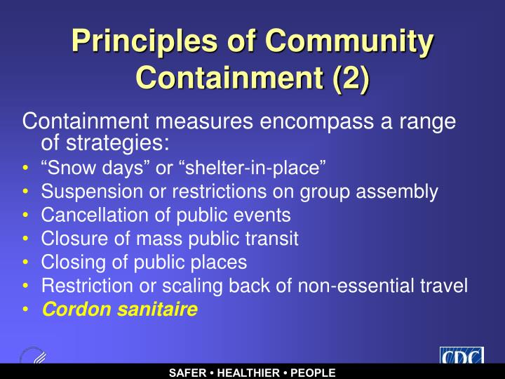 Principles of Community Containment (2)
