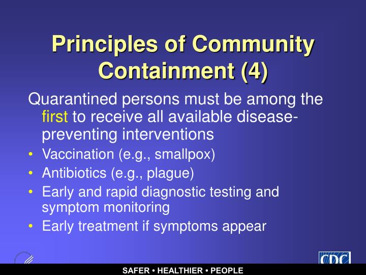 Principles of Community Containment (4)