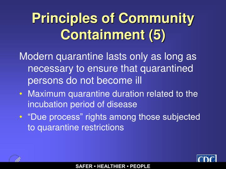 Principles of Community Containment (5)