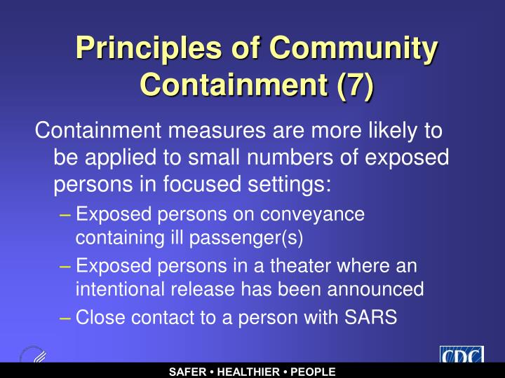 Principles of Community Containment (7)