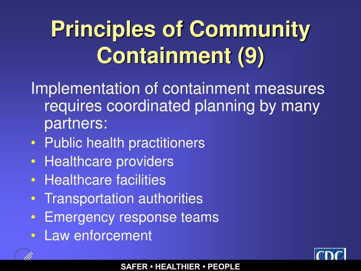Principles of Community Containment (9)