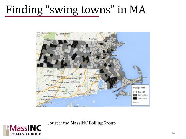 "Finding ""swing towns"" in MA"