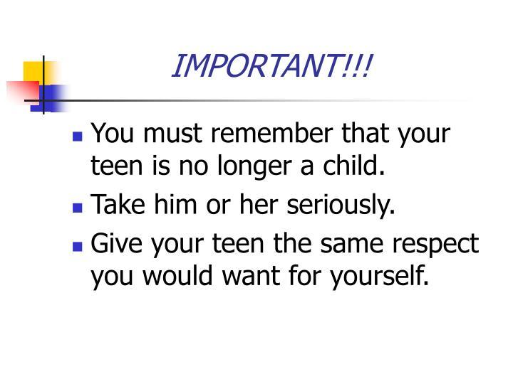 IMPORTANT!!!