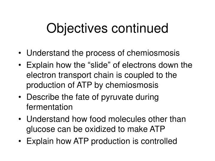 describe the process of chemiosmosis