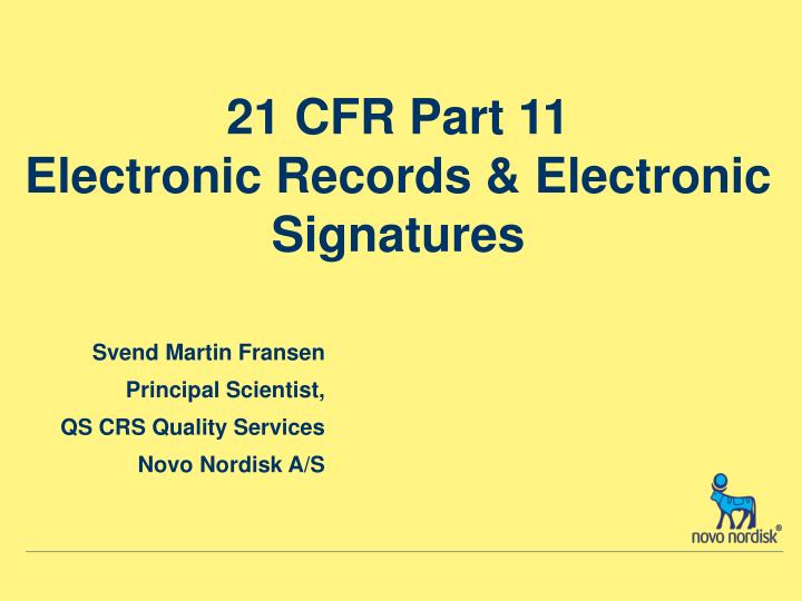 21 cfr part 11 electronic records electronic signatures n.