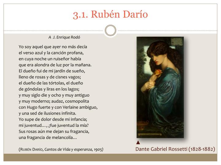 3.1. Rubén Darío