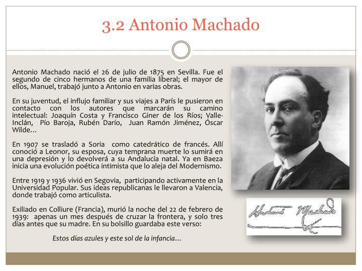3.2 Antonio Machado