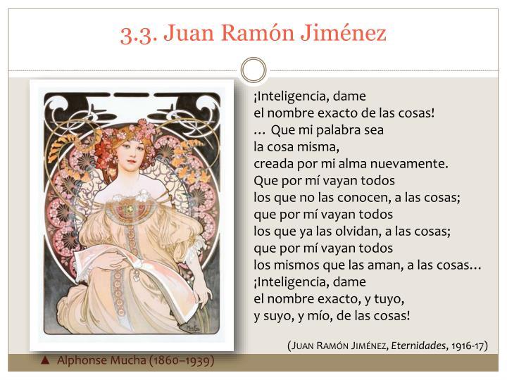3.3. Juan Ramón Jiménez