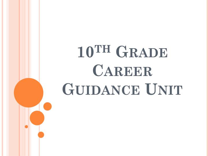 Ppt 10 Th Grade Career Guidance Unit Powerpoint Presentation Free Download Id 3114355