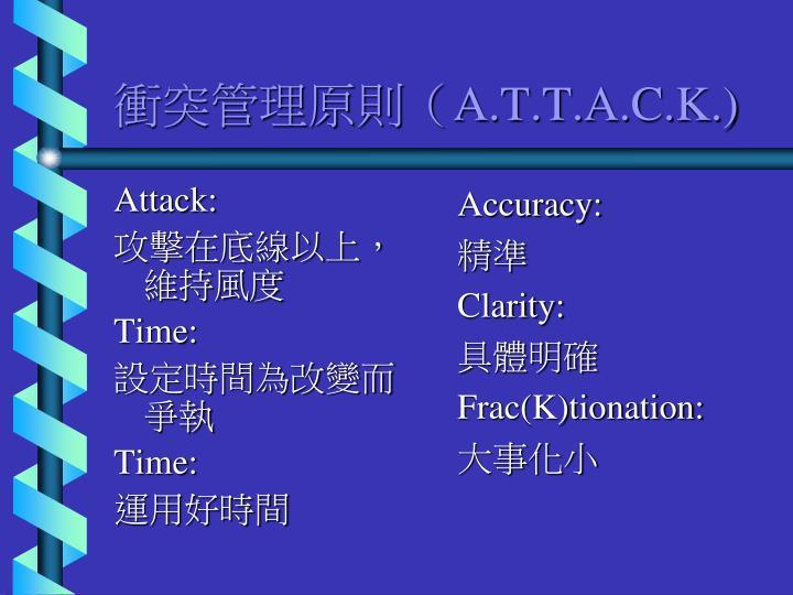 Attack: