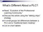 what s different about a plc