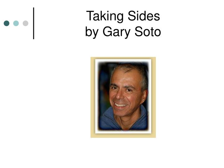 essay by gary soto Download thesis statement on gary soto in our database or order an original thesis paper that will be written by one of our staff writers and delivered according to the deadline.
