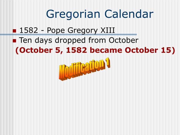 Gregorian calendar1