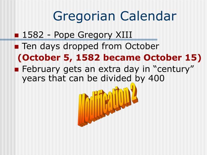 Gregorian calendar2
