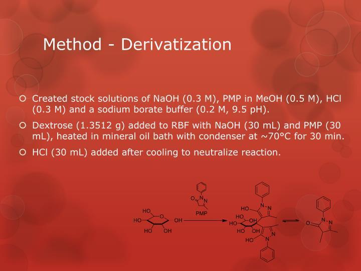 Method derivatization