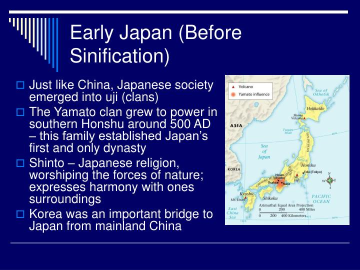 Early japan before sinification