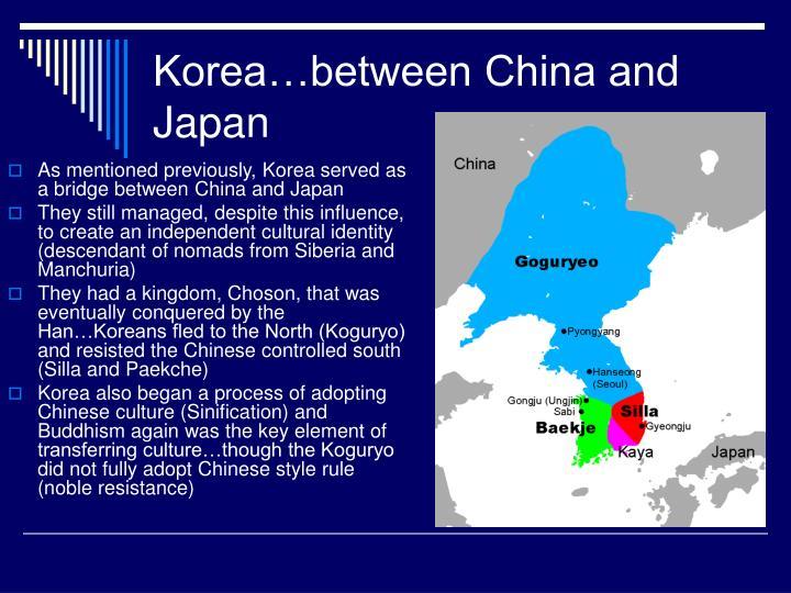 Korea…between China and Japan
