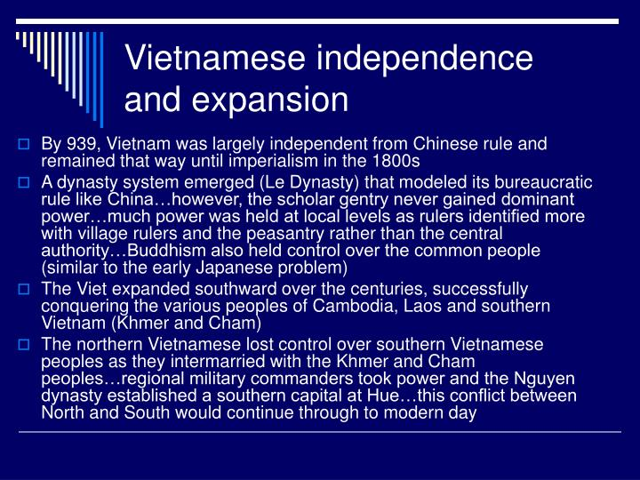 Vietnamese independence and expansion
