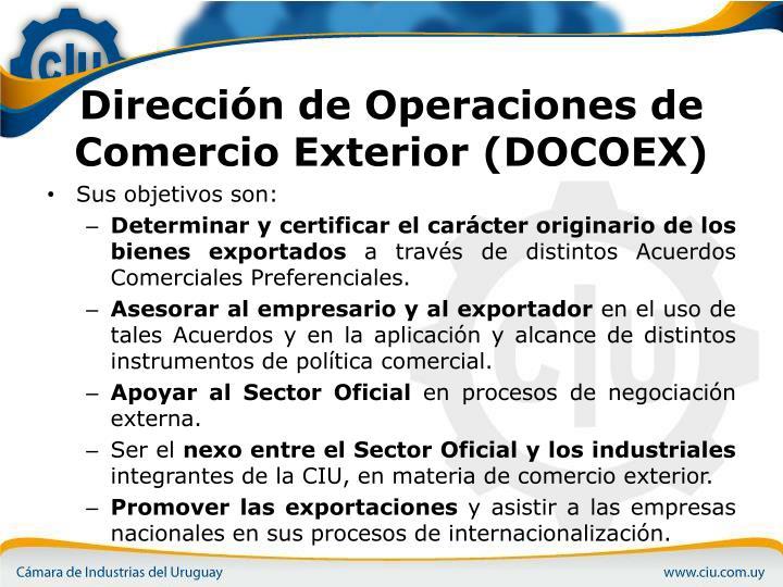 Direcci n de operaciones de comercio exterior docoex1