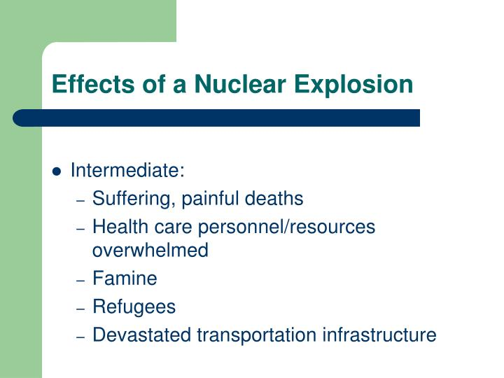 Effects of a Nuclear Explosion