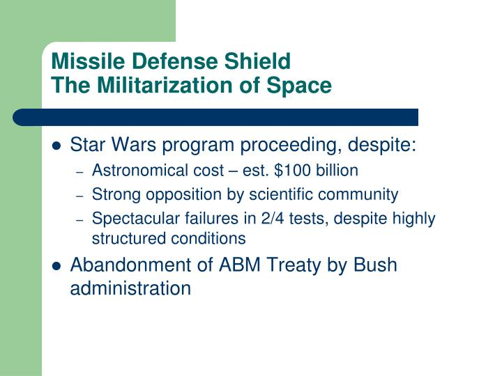 Missile Defense Shield