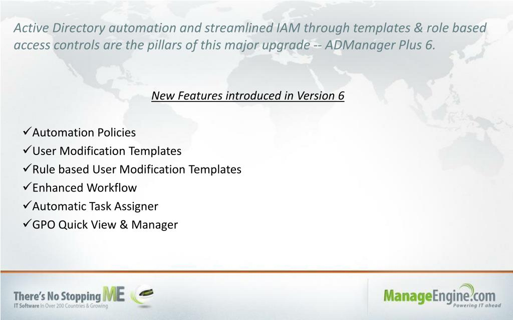 PPT - ManageEngine ADManager Plus 6 PowerPoint Presentation