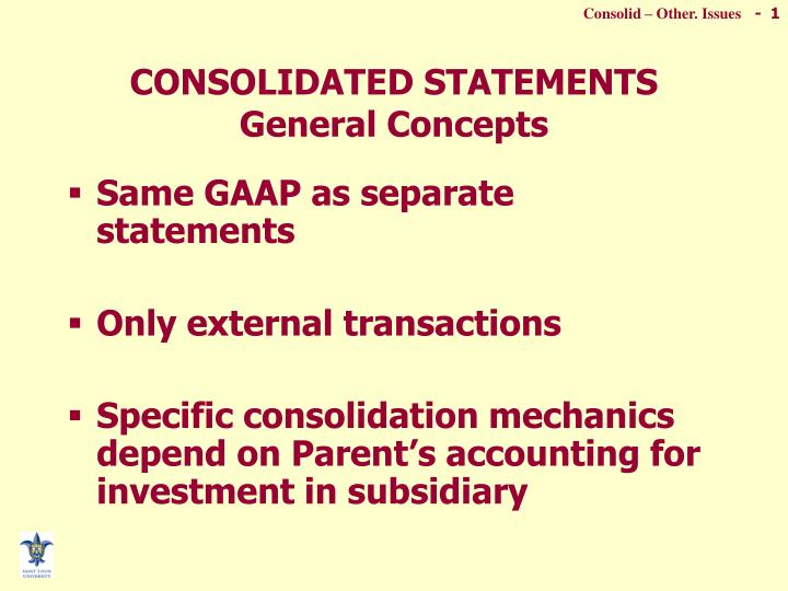 consolidated statements general concepts n.