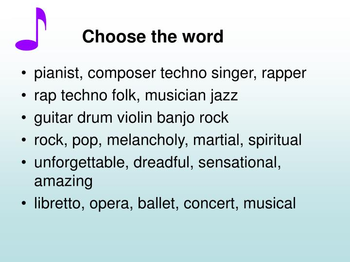 Choose the word