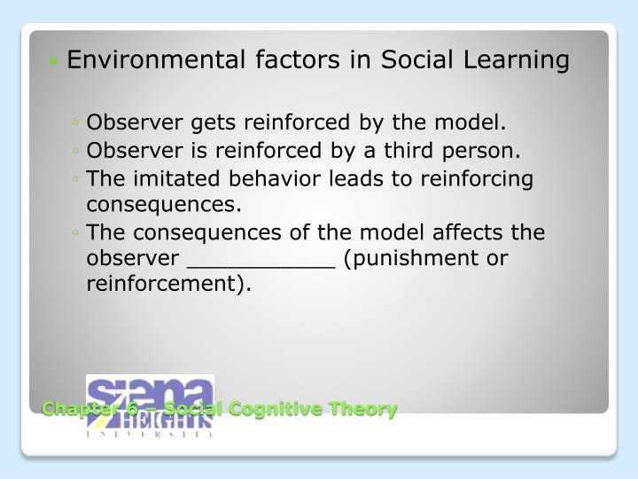 Chapter 6 social cognitive theory1