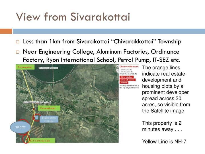 View from Sivarakottai