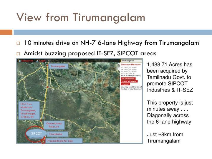 View from Tirumangalam