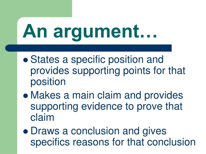 An argument…