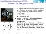 paraxial and t hin lens a pproximations