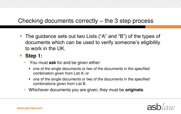Checking documents correctly – the 3 step process