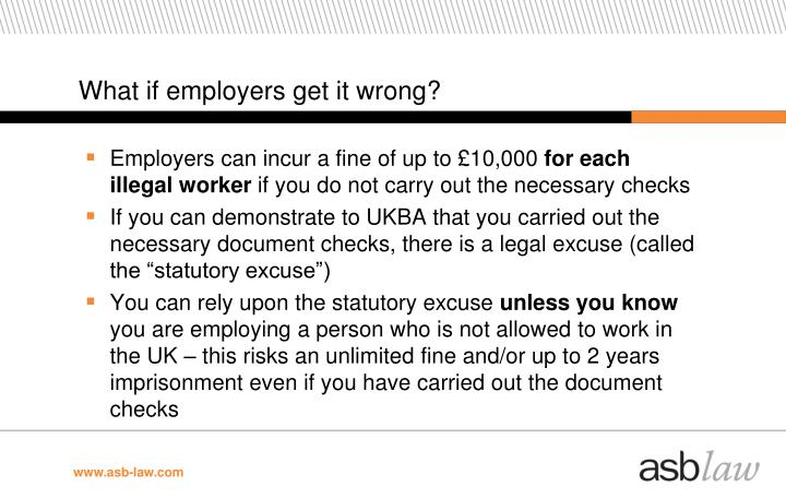 What if employers get it wrong?