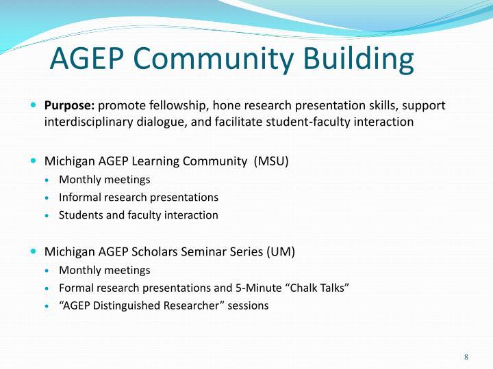 AGEP Community Building