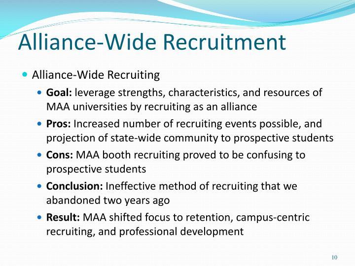Alliance-Wide Recruitment