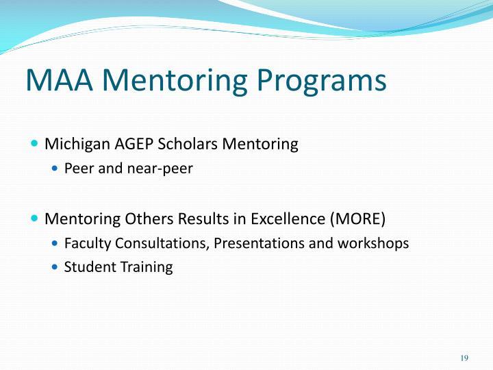MAA Mentoring Programs