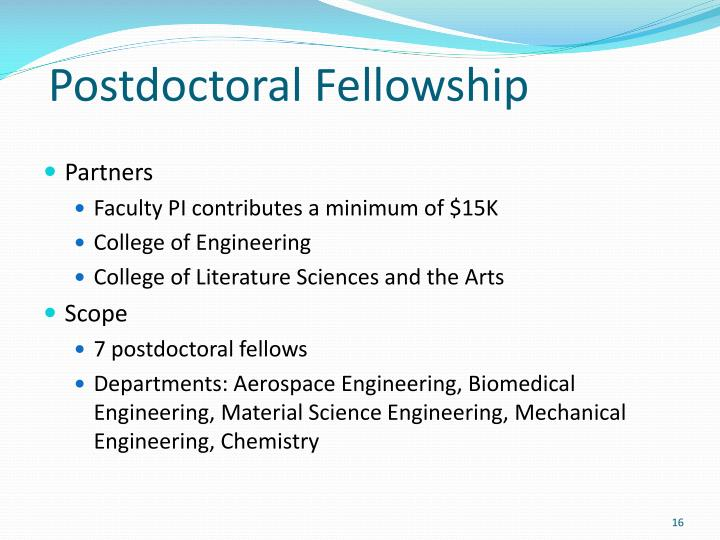 Postdoctoral Fellowship
